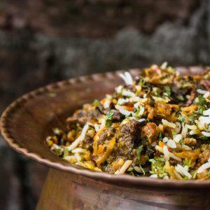 Hyderabadi Mutton Matka Biryani