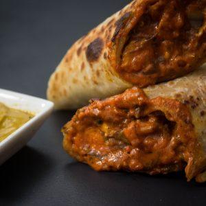 Chicken bhuna roll